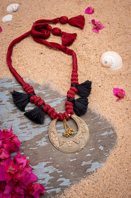 Miharu Dhokra Motif Necklace D91