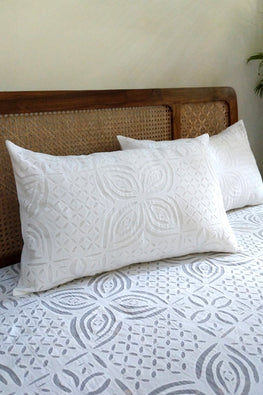 Okhai 'Fiona' Pure Cotton Applique Work Bed Cover Set