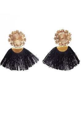 Miharu Tassel Geometric Rings  Earrings
