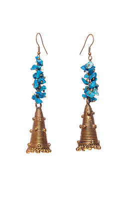 Miharu Hanging Pyramid Earrings