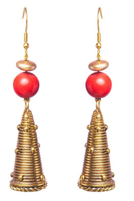 Miharu Gold Tone Cone Earrings