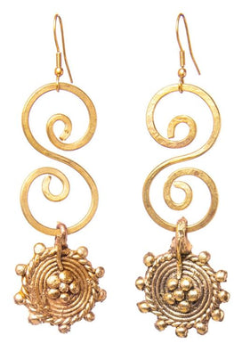 Miharu S Gold Tone Earrings