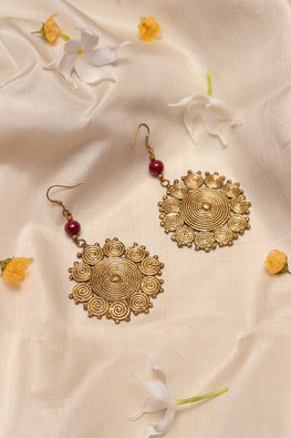 Miharu Geometric Circular Hook Earrings
