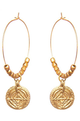 Miharu Gold tone Brass Hoops