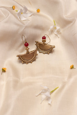 Miharu Pie Brass Earrings