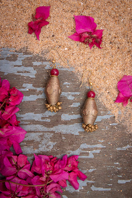 Miharu Dhokra Dhol Earrings DEr90b