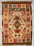 Handwoven Kilim Rug (5 x 3 ft) - The India Craft House