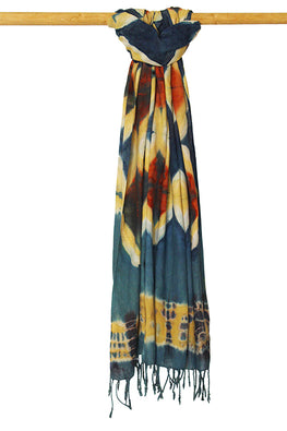 Creative Bee 'DIAMOND' Natural Dye Shibori Cotton Stole