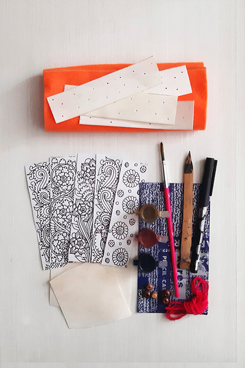 "Studio Moya 'Bookmarks"" Leather Puppetry Craft DIY Kit"