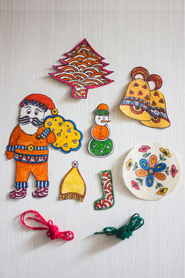 Studio Moya 'Christmas Hangings' Leather Puppetry Craft DIY Kit