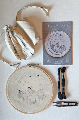 Okhai Over The Moon DIY Hoop Embroidery Kit Online