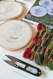 Okhai 'Cactus Garden' DIY Hoop Embroidery Kit
