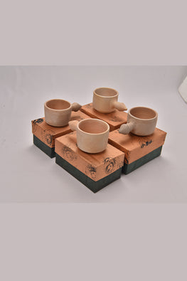 Antarang- Terracota Mugs (Set of 4)