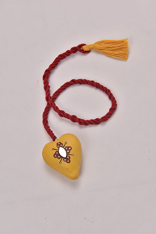 Antarang- Terracota Heart Pendanat/Welcome Garland. (Set of 12)