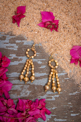 Miharu Dhokra Beaded Earrings EB23
