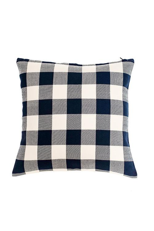Extra weft Checker Cushion Cover