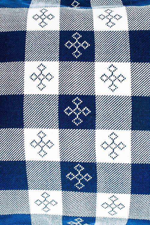 Extra weft Checker with Butti in the Centre Cushion Cover