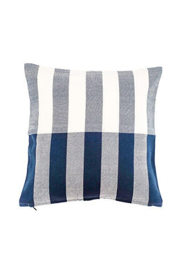 Extra weft Half and Half Stripe Cushion Cover