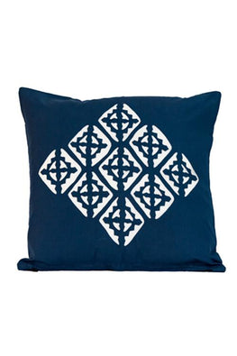 Applique Centre Diamond Motif Cushion Cover