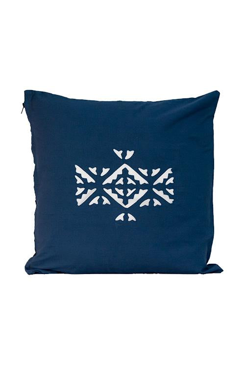 Okhai Applique Centre Vertical Motif Cushion Cover Online