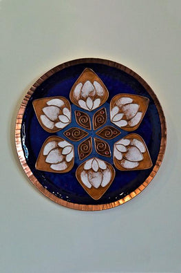 Blue lotus in the petal Wall Plate-17
