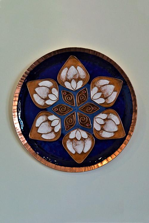 Blue lotus in the petal Wall Plate-18