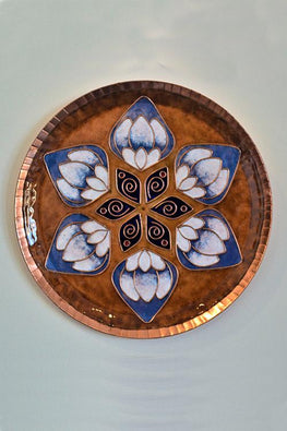Brown lotus in the petal Wall Plate-19