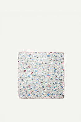 Ikai Asai Block Printed Table Napkin single pc with Pink Border