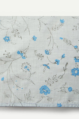 Ikai Asai Block p=Printed Table Napkin Single pc with Blue Border