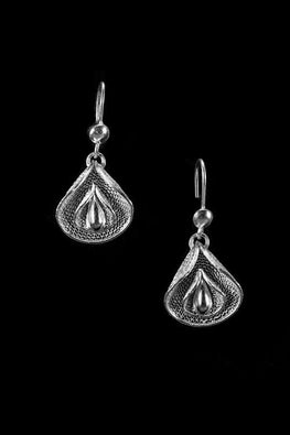 Silver Linings Petals Handmade Silver Filigree Dangle Earrings Online