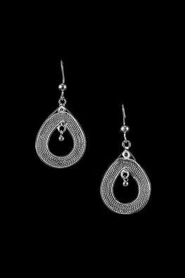 Silver Linings Drops Handmade Silver Filigree Dangle Earrings Online