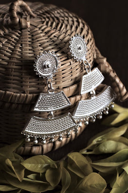 Silver Linings Tarakasi Handmade Silver Filigree Dangle Earrings Online