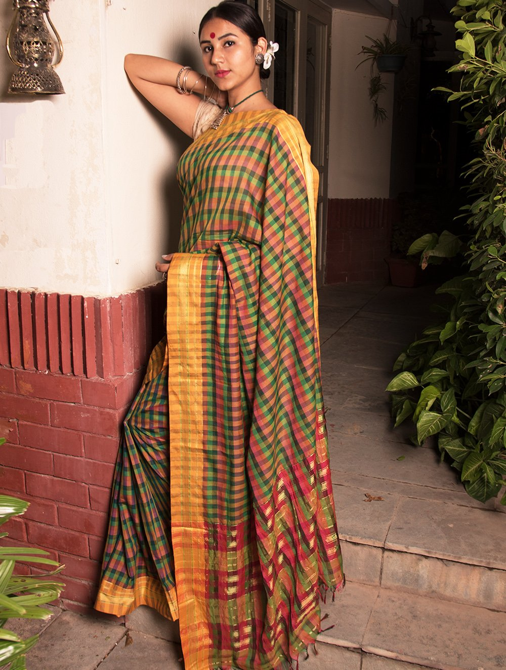 Ethnic Statement. Fine Ilkal Saree