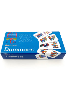 "Froggmag ""Gond Animals"" Dominoes Multiplayer Board Game"