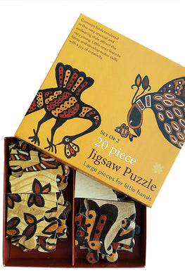 "Froggmag ""Sohrai Birds"" 20 Pieces Jigsaw Puzzle"