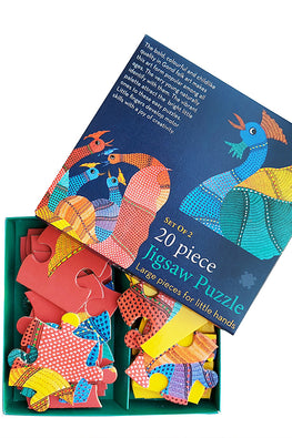 "Froggmag ""Gond Hen and Rooster"" 20 Pieces Jigsaw Puzzle"