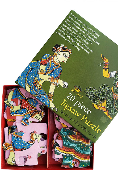 "Froggmag ""Patachitra Women"" 20 Pieces Jigsaw Puzzle"