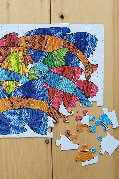 "Froggmag ""Gond Fish"" 63 Pieces Jigsaw Puzzle"