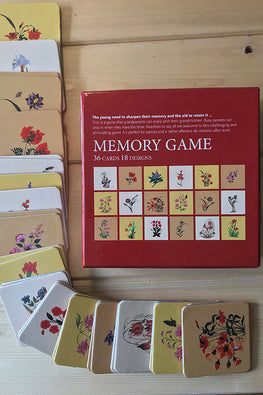 "Froggmag ""Mughal Miniature Flowers"" 36 Pairs Memory Game"