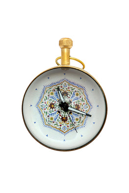 "Froggmag ""Detail, Ganesh Pol, Amer Fort"" Brass Paper Weight Clock"