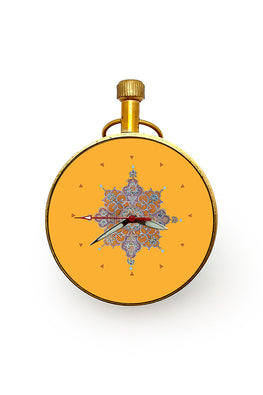 "Froggmag ""Detail, Nahargarh"" Brass Paper Weight Clock"