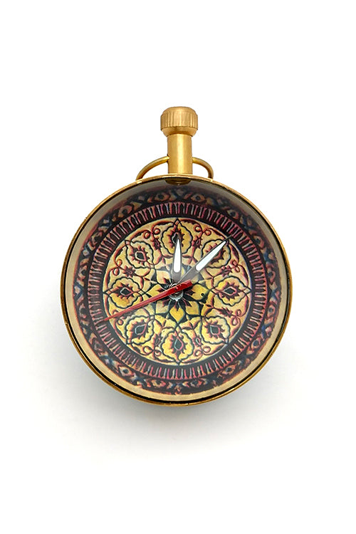 "Froggmag ""Detail, Queens Quarters, Amer Fort"" Brass Paper Weight Clock"