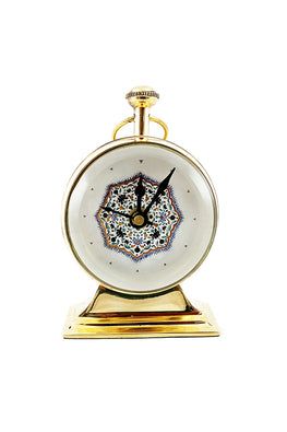"Froggmag ""Detail, Medallion, Amer Fort"" Brass Table Clock"