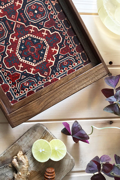 "Froggmag ""Detail, Carpet, Kashmir"" Wooden Tray"