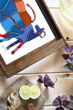 "Froggmag ""Gond Cow"" Wooden Tray"