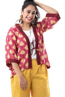 Creative Bee 'ZULU' Handwoven Ikat Cotton Shrug