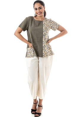 Creative Bee 'CONASI' Handwoven Pure Cotton Blouse