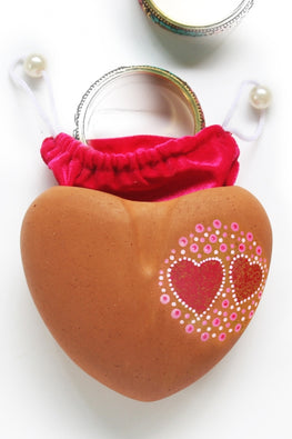 "Craftliip Gift Shell Terracotta ""HEART"""