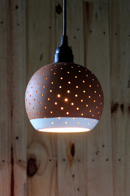 Craftlipi GLO L With Border Handcrafted Hanging Ceiling Terracotta Lamp Online