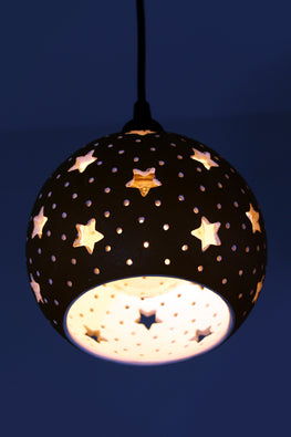 Craftlipi GLO L STAR Handcrafted Hanging Ceiling Terracotta Lamp Online